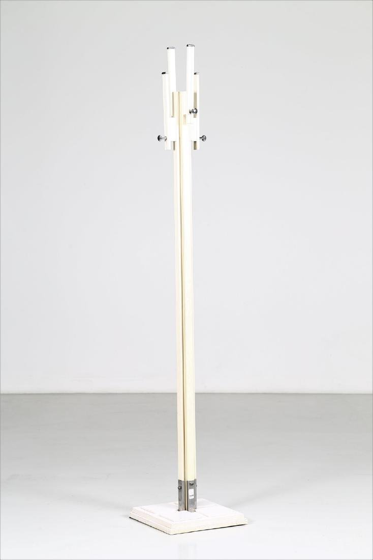 CARLO DE CARLI Coat rack in lacquered wood and chromed - 2