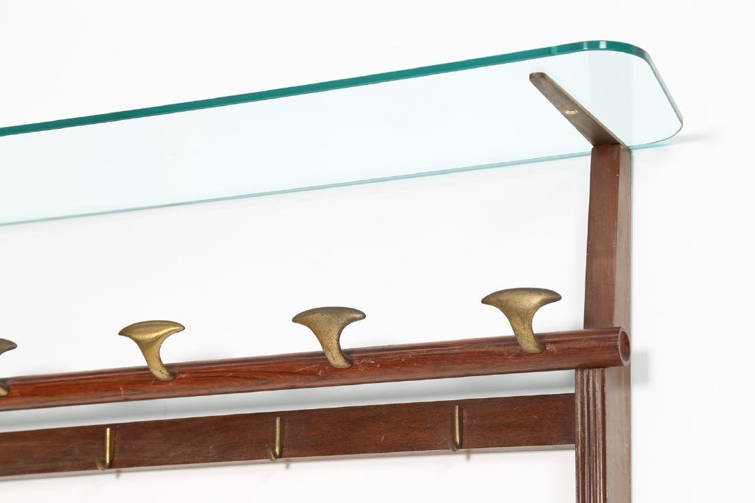 PAOLO BUFFA Wall coat rack in rosewood, brass and - 2