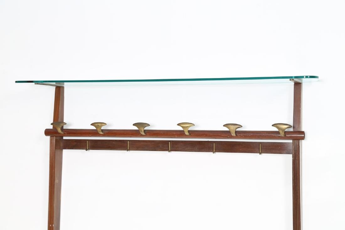 PAOLO BUFFA Wall coat rack in rosewood, brass and - 4