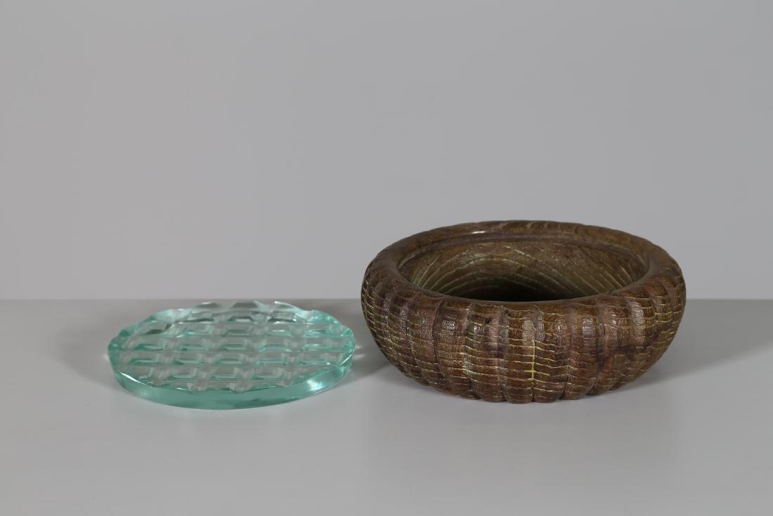 PIETRO CHIESA Wood and cut crystal box by Fontana Arte, - 2