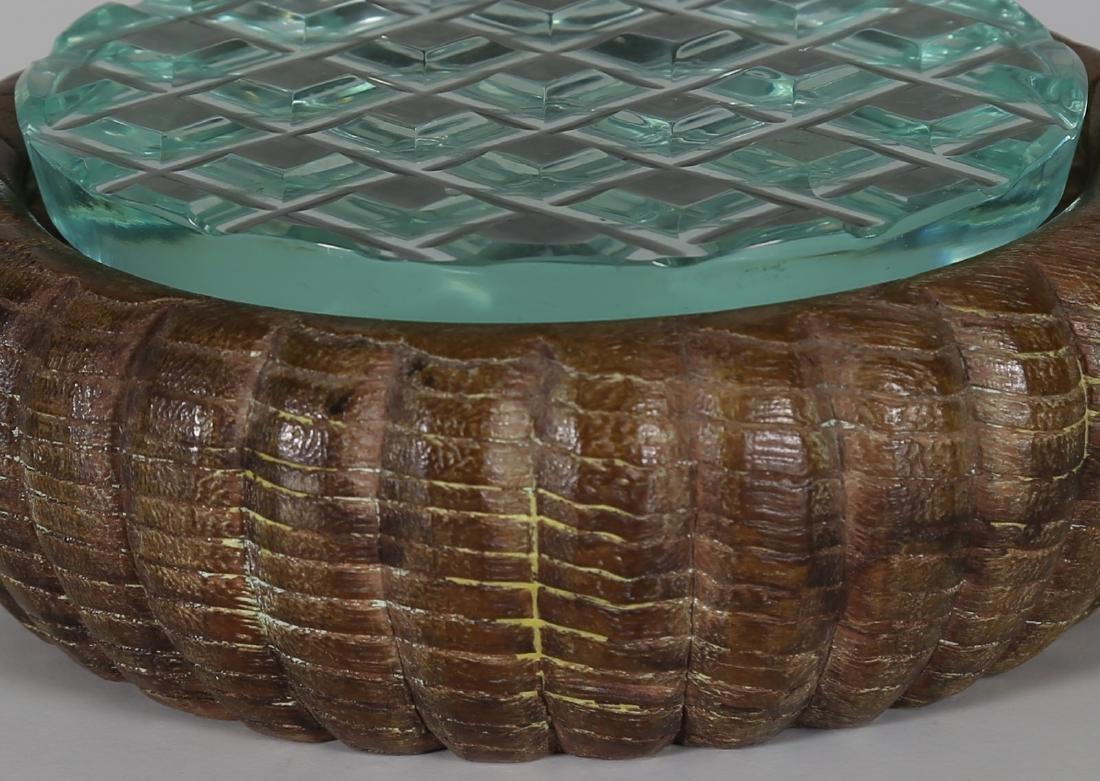 PIETRO CHIESA Wood and cut crystal box by Fontana Arte, - 3