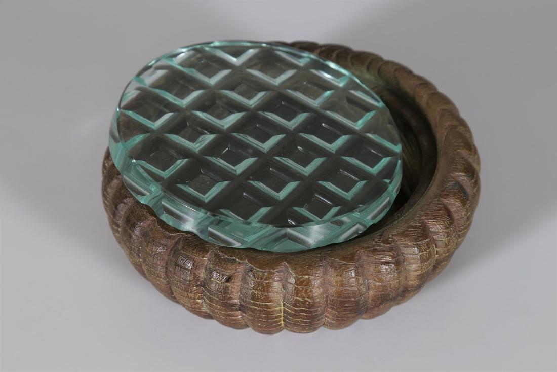 PIETRO CHIESA Wood and cut crystal box by Fontana Arte, - 4