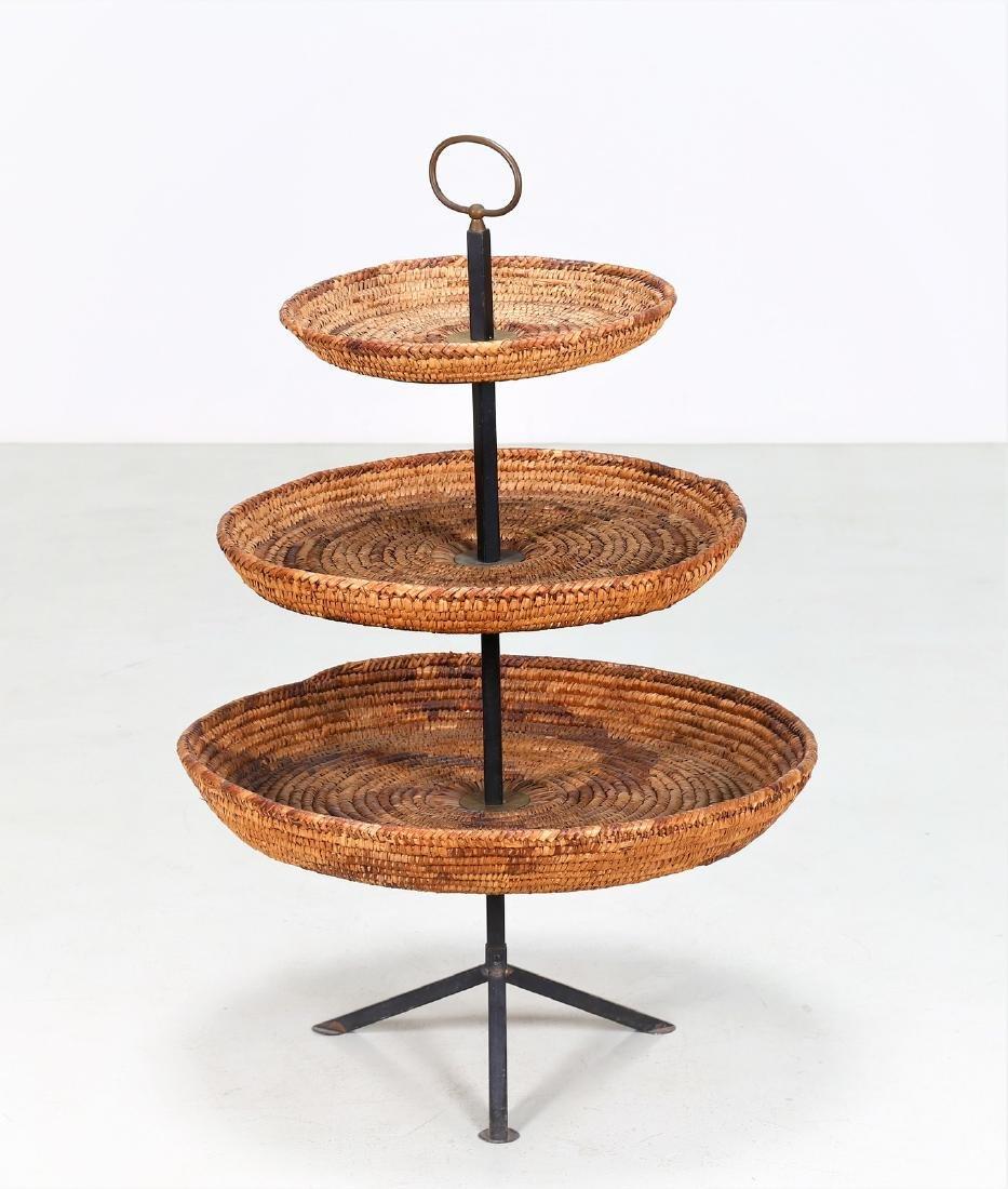 RAFFAELLA CRESPI Cake stand in lacquered iron and