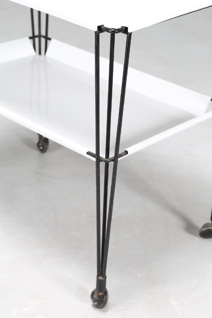 OSVALDO BORSANI Rare food trolley in lacquered metal - 3