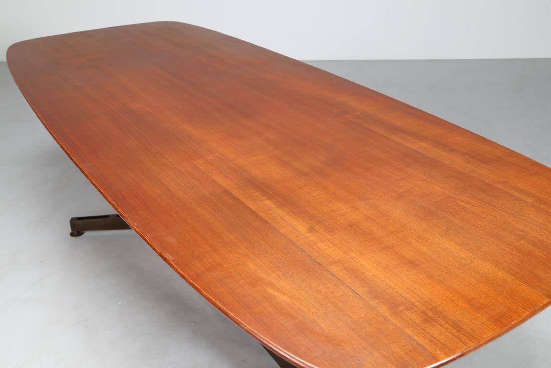 MANIFATTURA ITALIANA Teak and brass table, 1950s. - 2