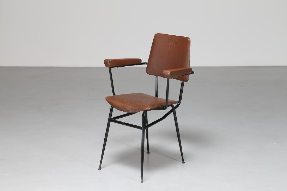 MANIFATTURA ITALIANA  Chair in lacquered metal and