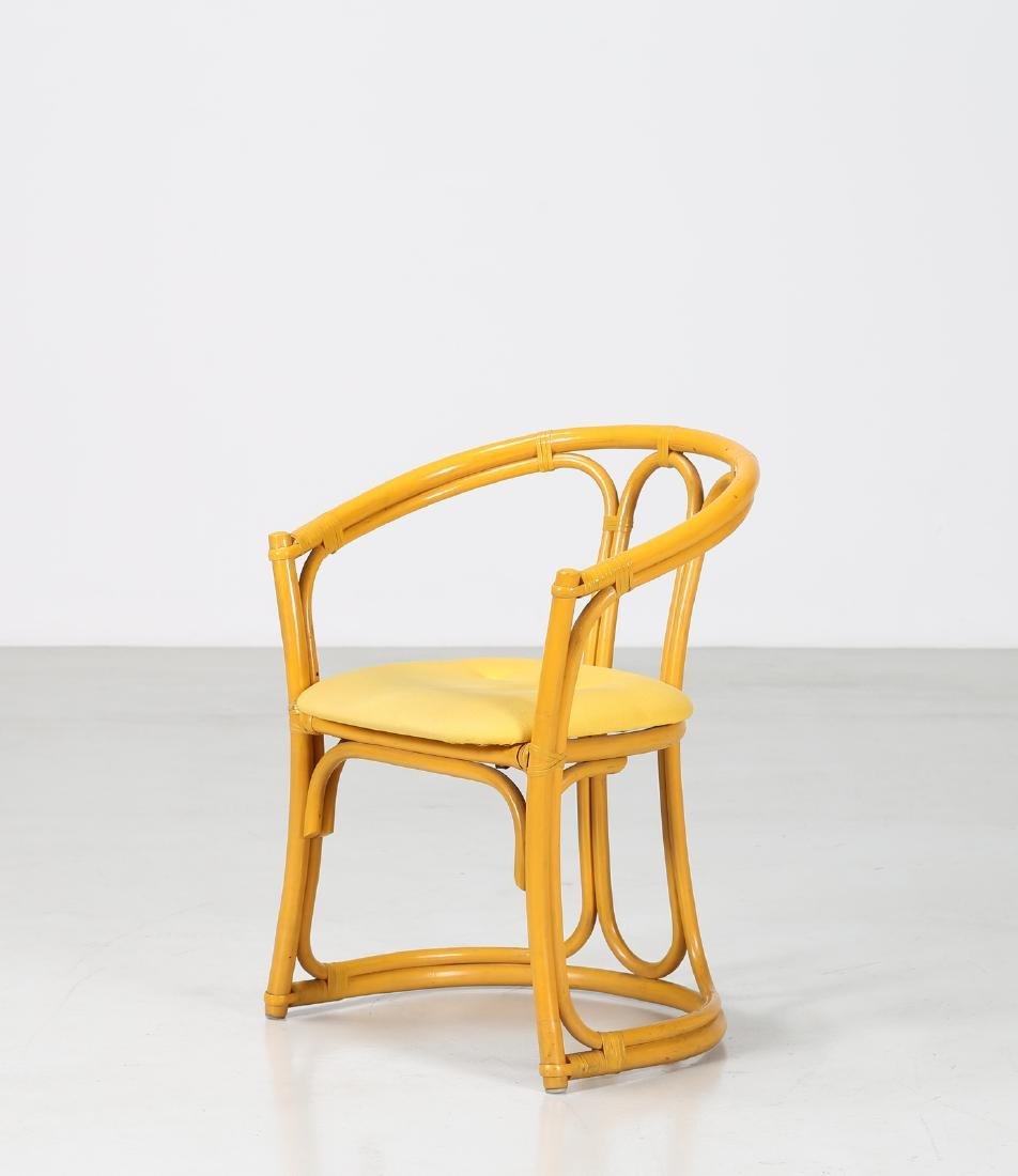 MANIFATTURA ITALIANA  Bamboo and fabric chair.