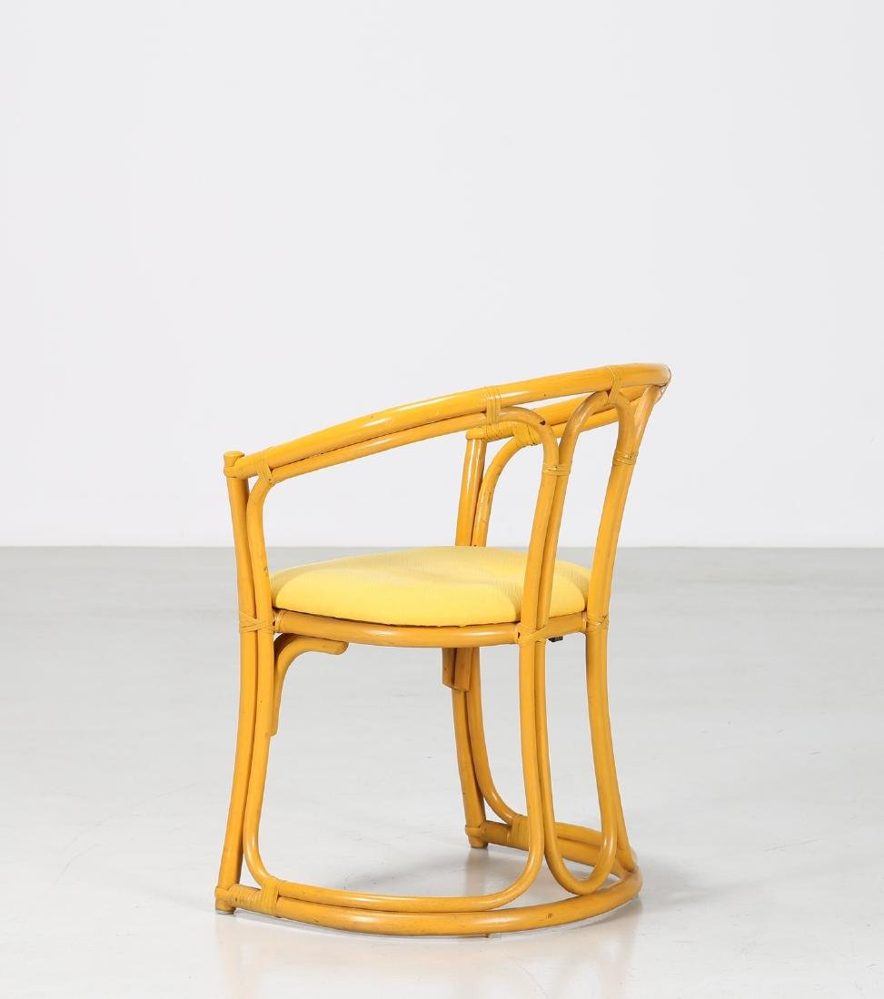 MANIFATTURA ITALIANA  Bamboo and fabric chair. - 2