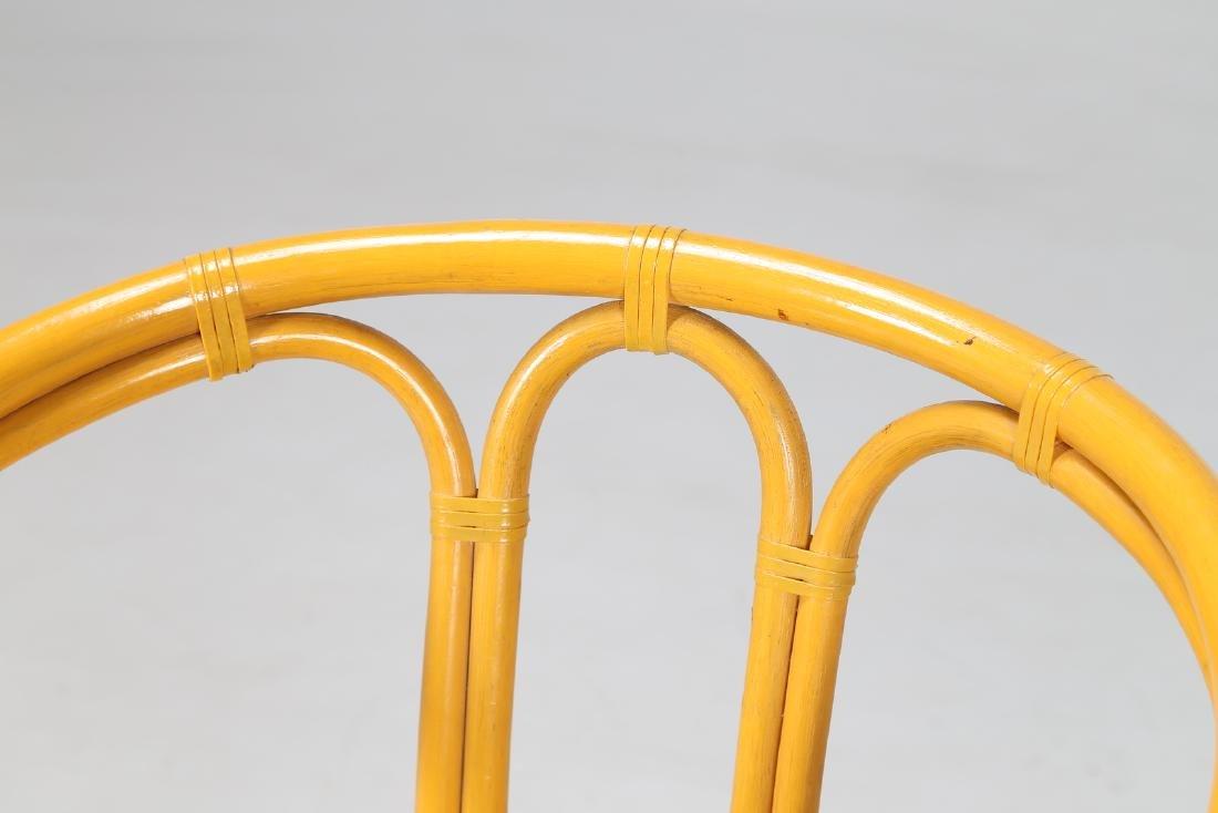MANIFATTURA ITALIANA  Bamboo and fabric chair. - 4