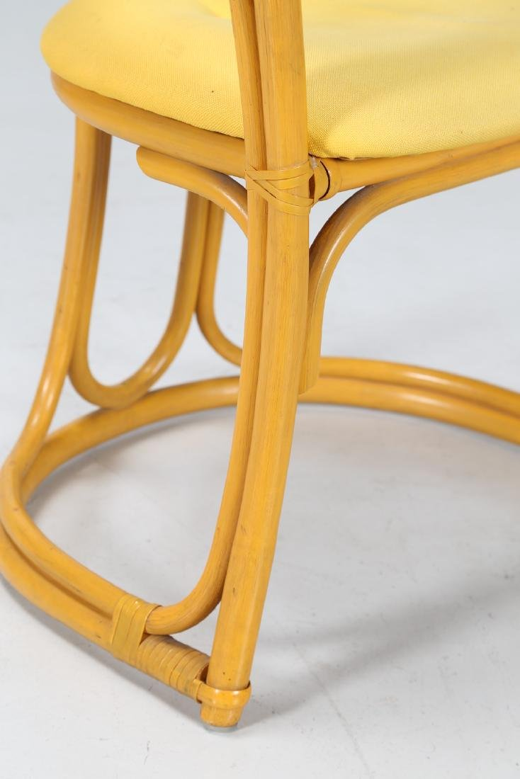MANIFATTURA ITALIANA  Bamboo and fabric chair. - 5