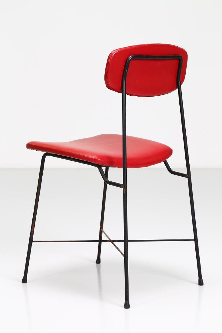 -  Metal and skai chair, 1950s. - 4