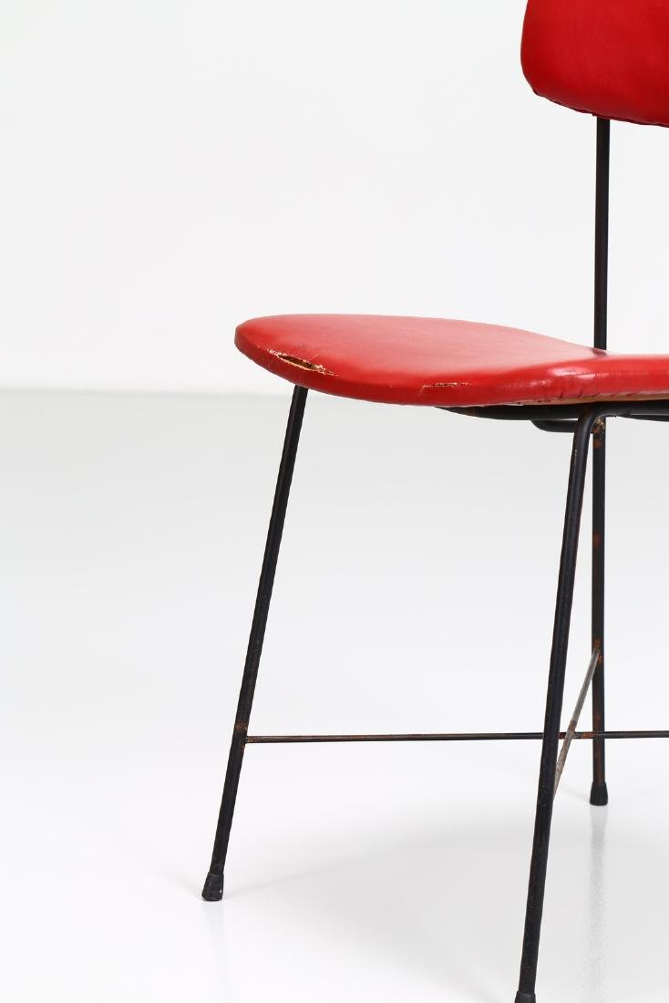 -  Metal and skai chair, 1950s. - 6