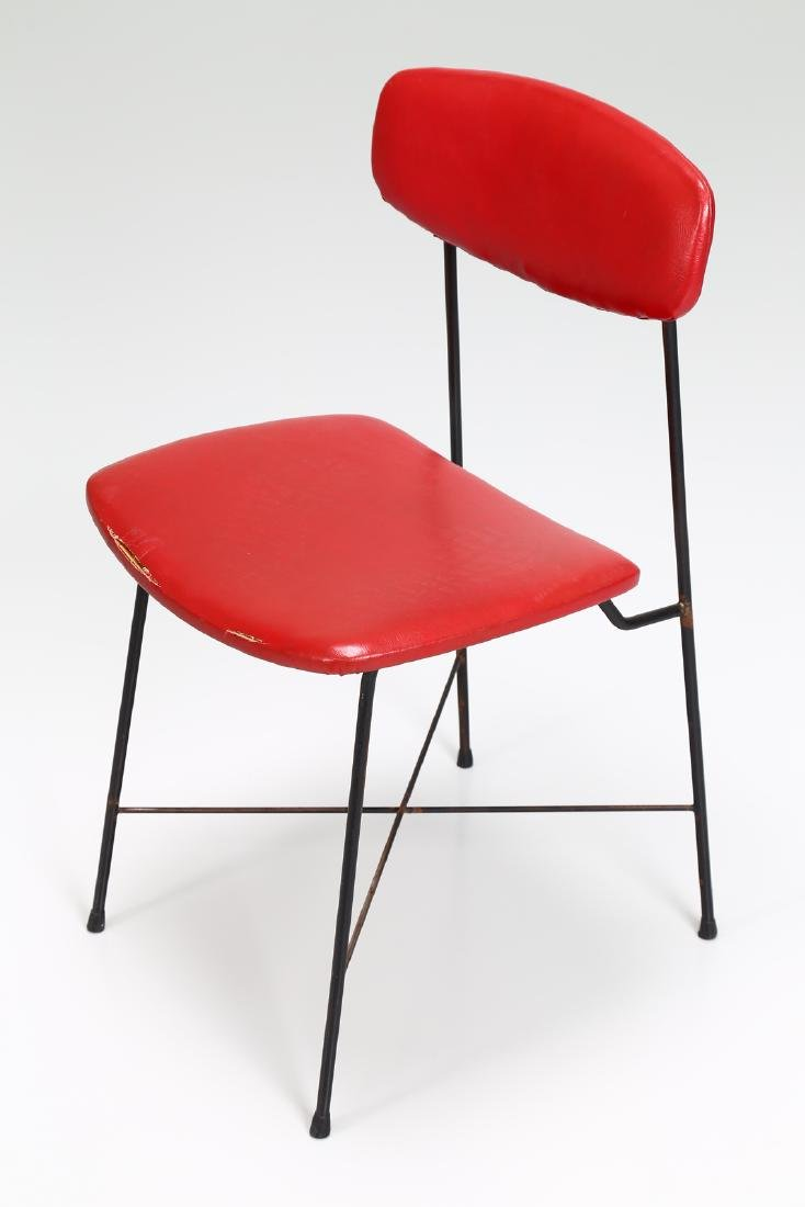 -  Metal and skai chair, 1950s. - 7