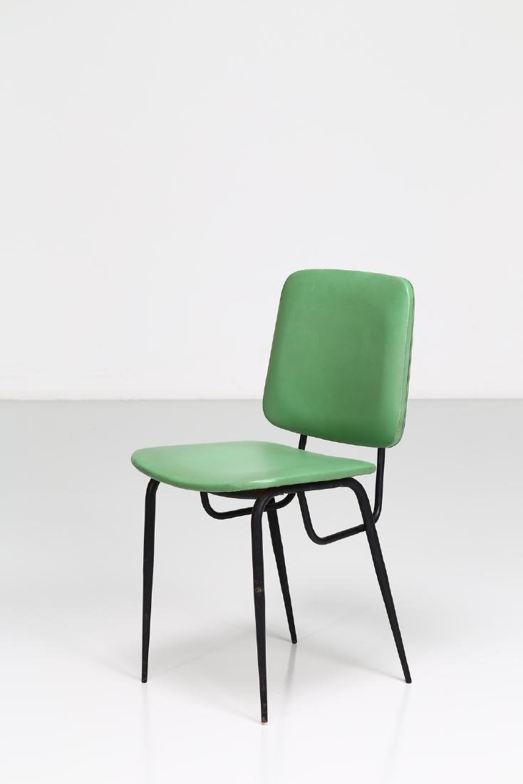 -  Metal and skai chair, 1960s.