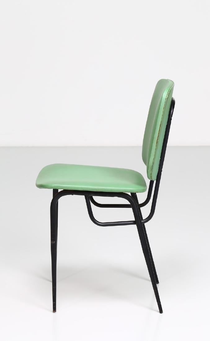-  Metal and skai chair, 1960s. - 2