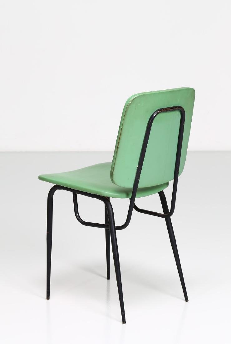 -  Metal and skai chair, 1960s. - 3