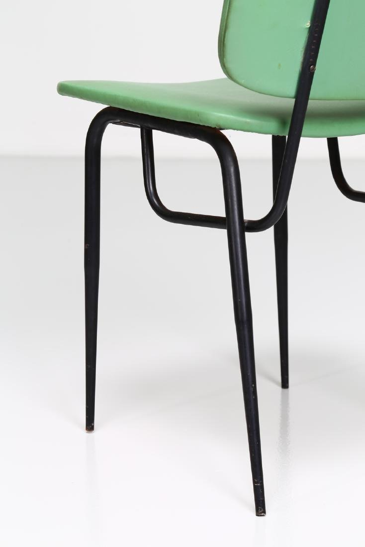 -  Metal and skai chair, 1960s. - 4
