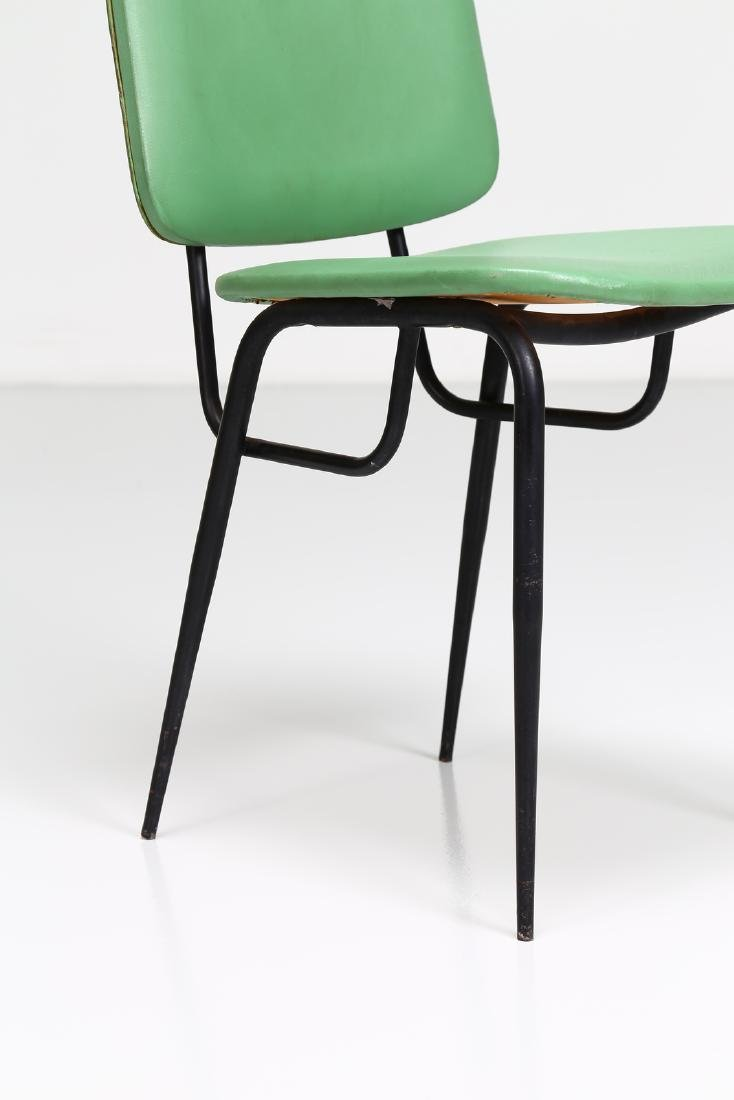 -  Metal and skai chair, 1960s. - 5