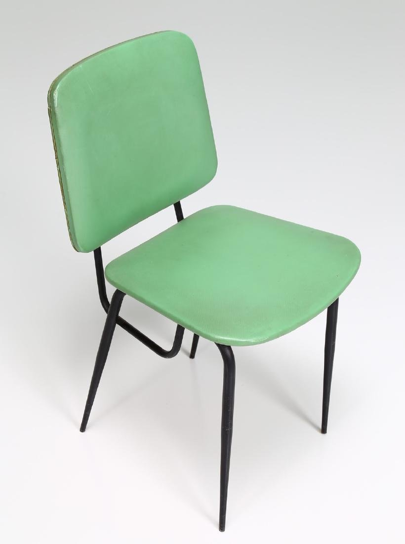 -  Metal and skai chair, 1960s. - 6