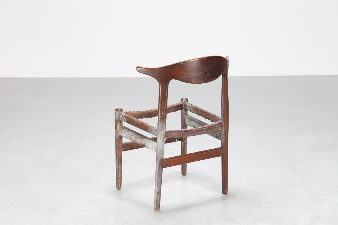 HANS J. WEGNER Distinctive wooden chair, 1950s. - 2