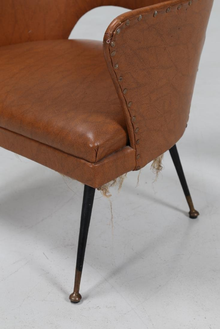 -  Chair in lacquered brass and skai, 1960s. - 6