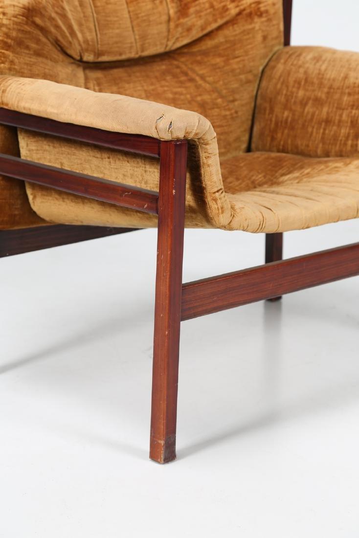 MANIFATTURA ITALIANA  Rosewood and woven seat, 50's.. - 2