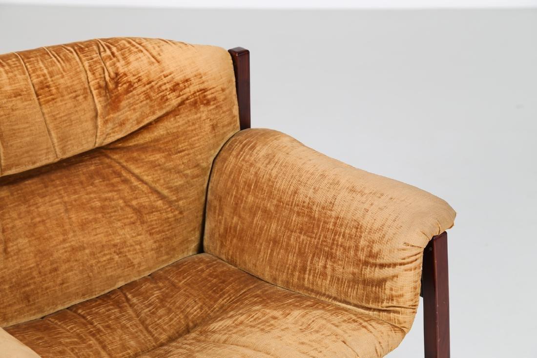 MANIFATTURA ITALIANA  Rosewood and woven seat, 50's.. - 3