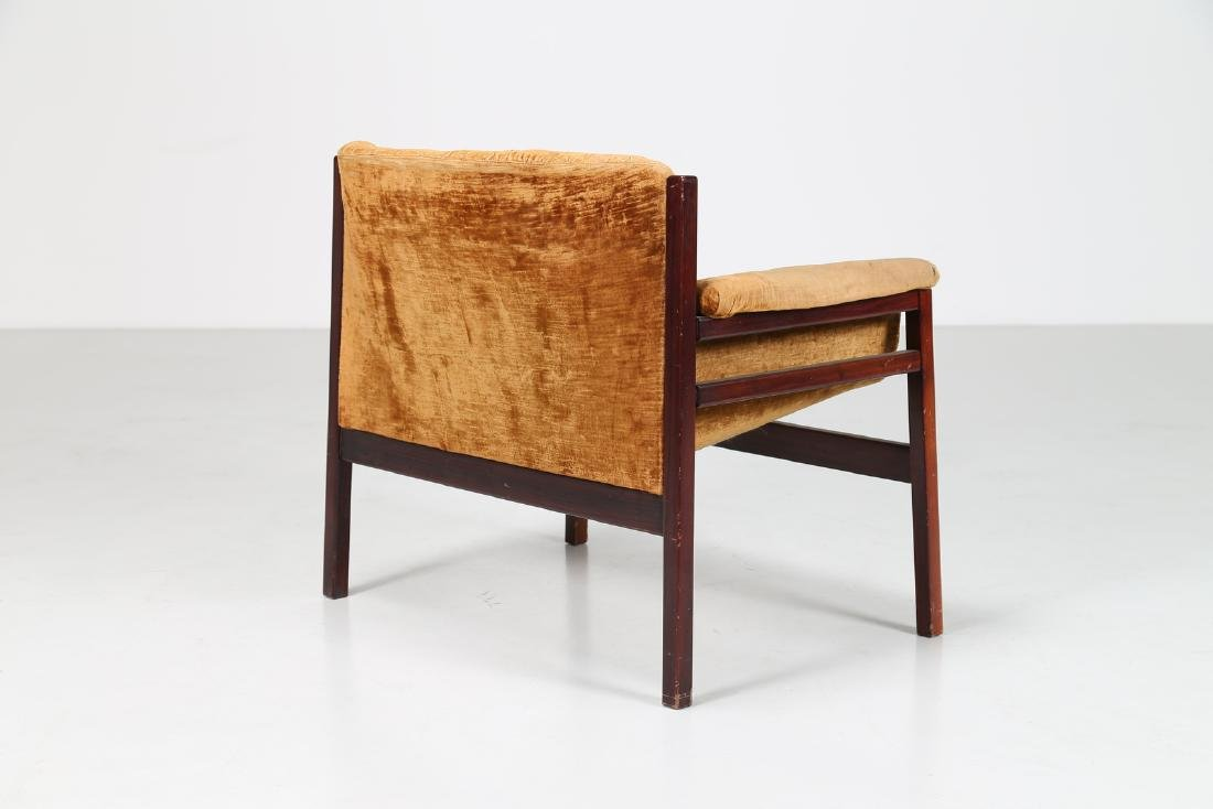 MANIFATTURA ITALIANA  Rosewood and woven seat, 50's.. - 4