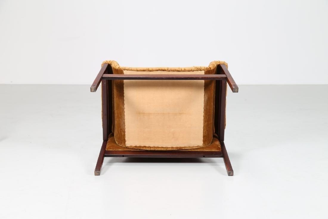 MANIFATTURA ITALIANA  Rosewood and woven seat, 50's.. - 5