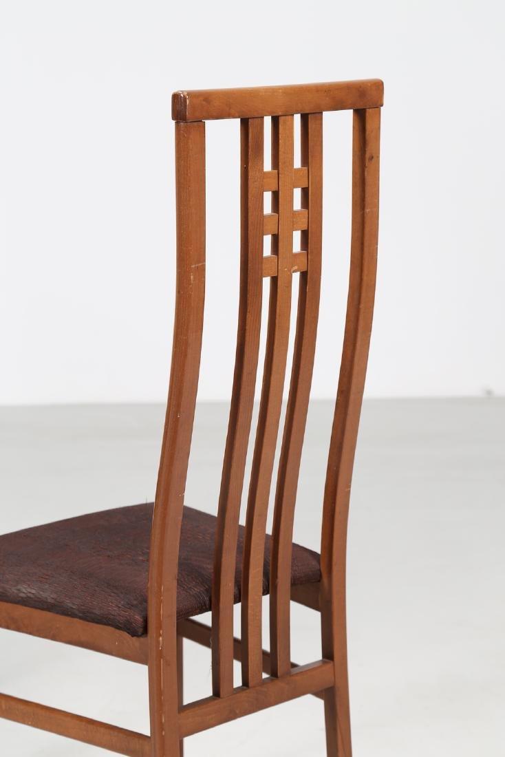 MANIFATTURA ITALIANA  Three wood and fabric chairs. - 2