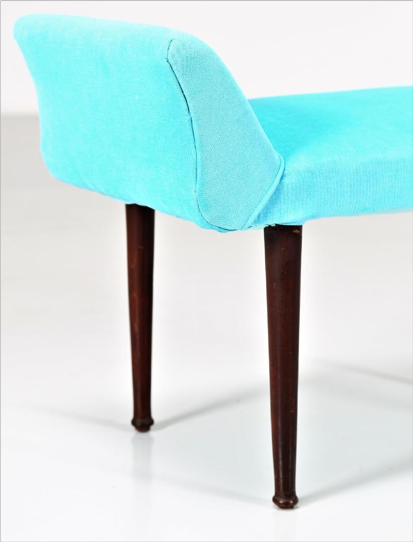 MANIFATTURA ITALIANA  Stool in wood and fabric. - 2