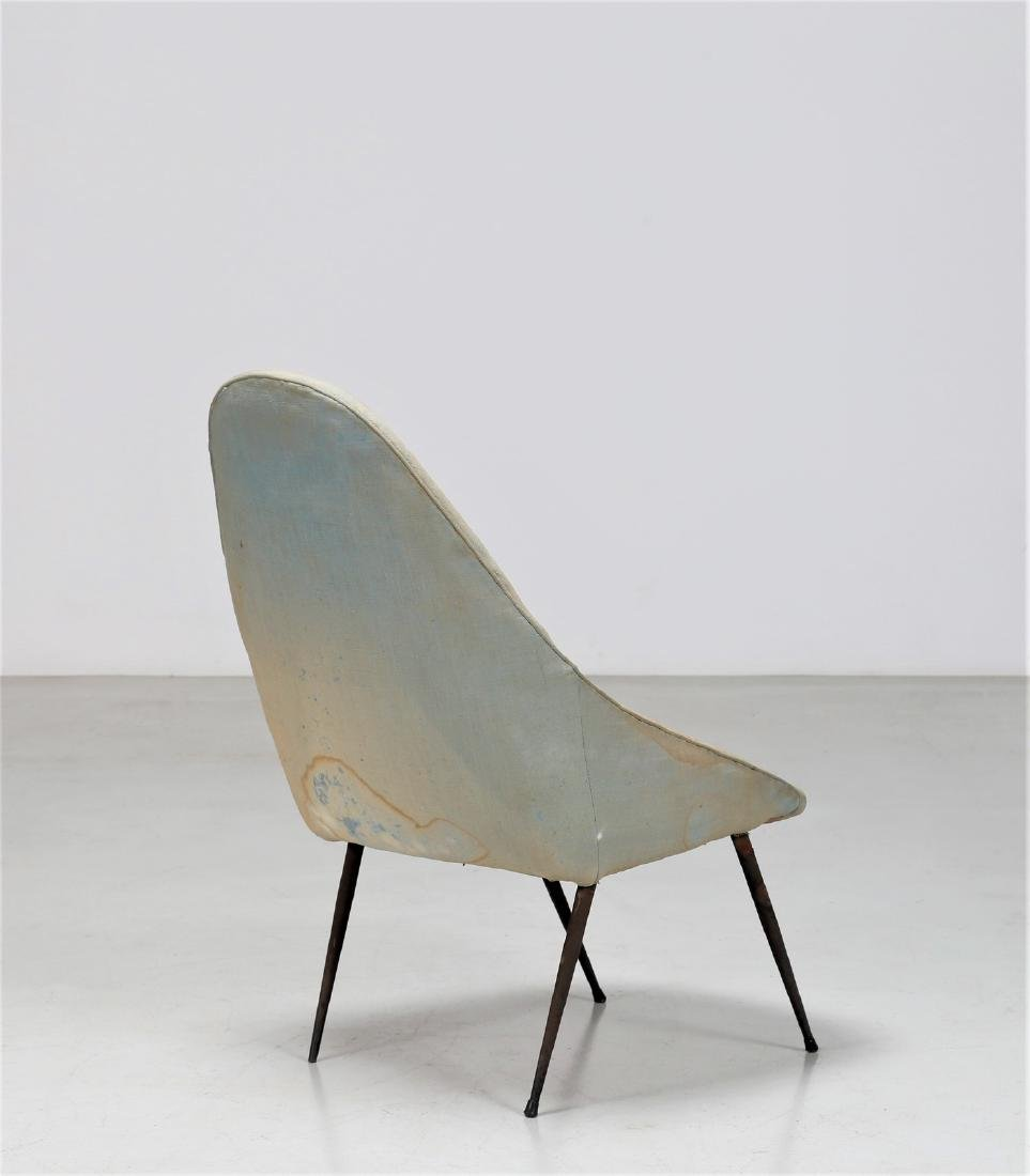 -  Easy chair in metal and fabric, 1950s. - 3