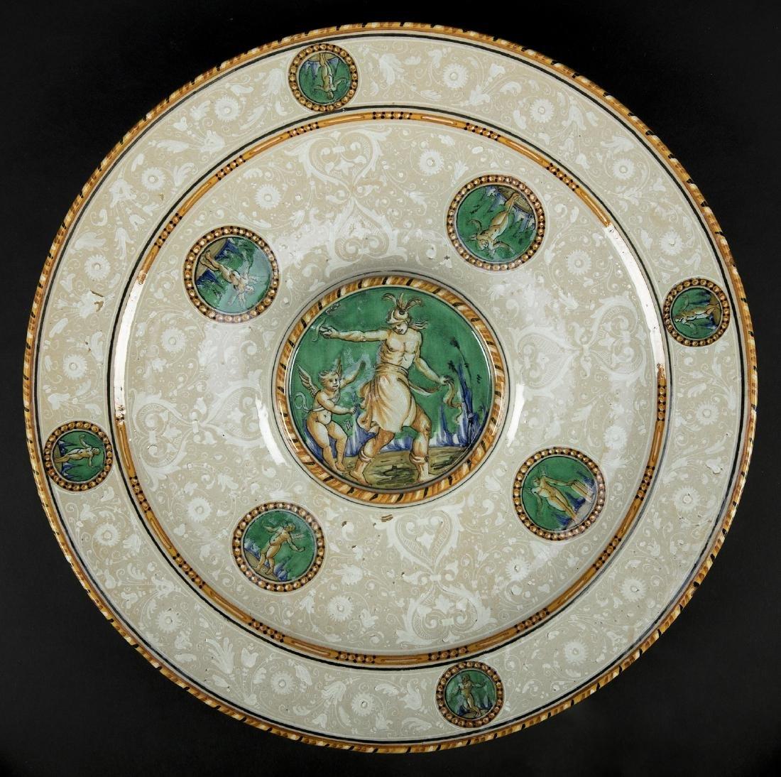 MANIFATTURA DEL XIX SECOLO  Piatto in ceramica