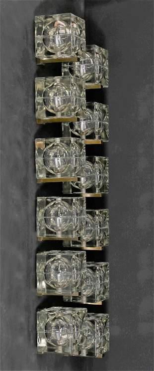 ALESSANDRO MENDINI Twelve Cubosfera wall lights.