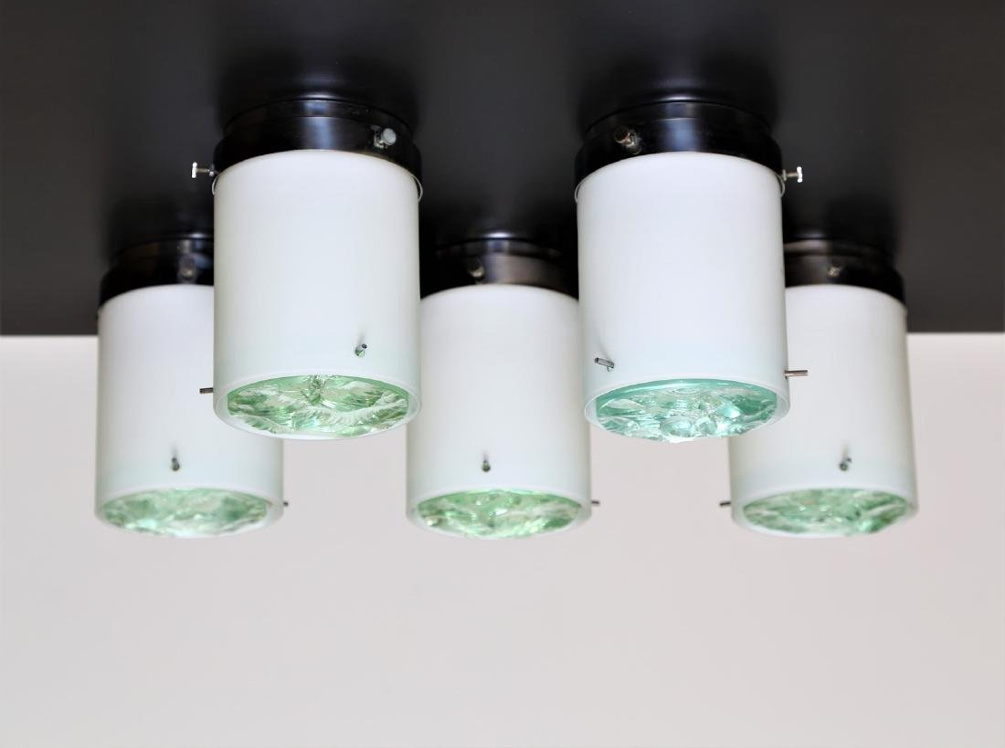 MAX INGRAND Five ceiling lights, mod. 2494.