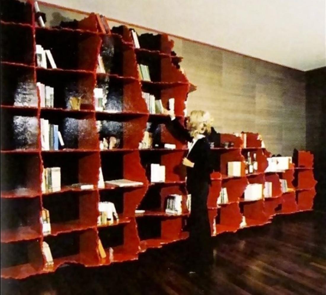 GAETANO PESCE Carenza bookcase, unique piece.. - 2