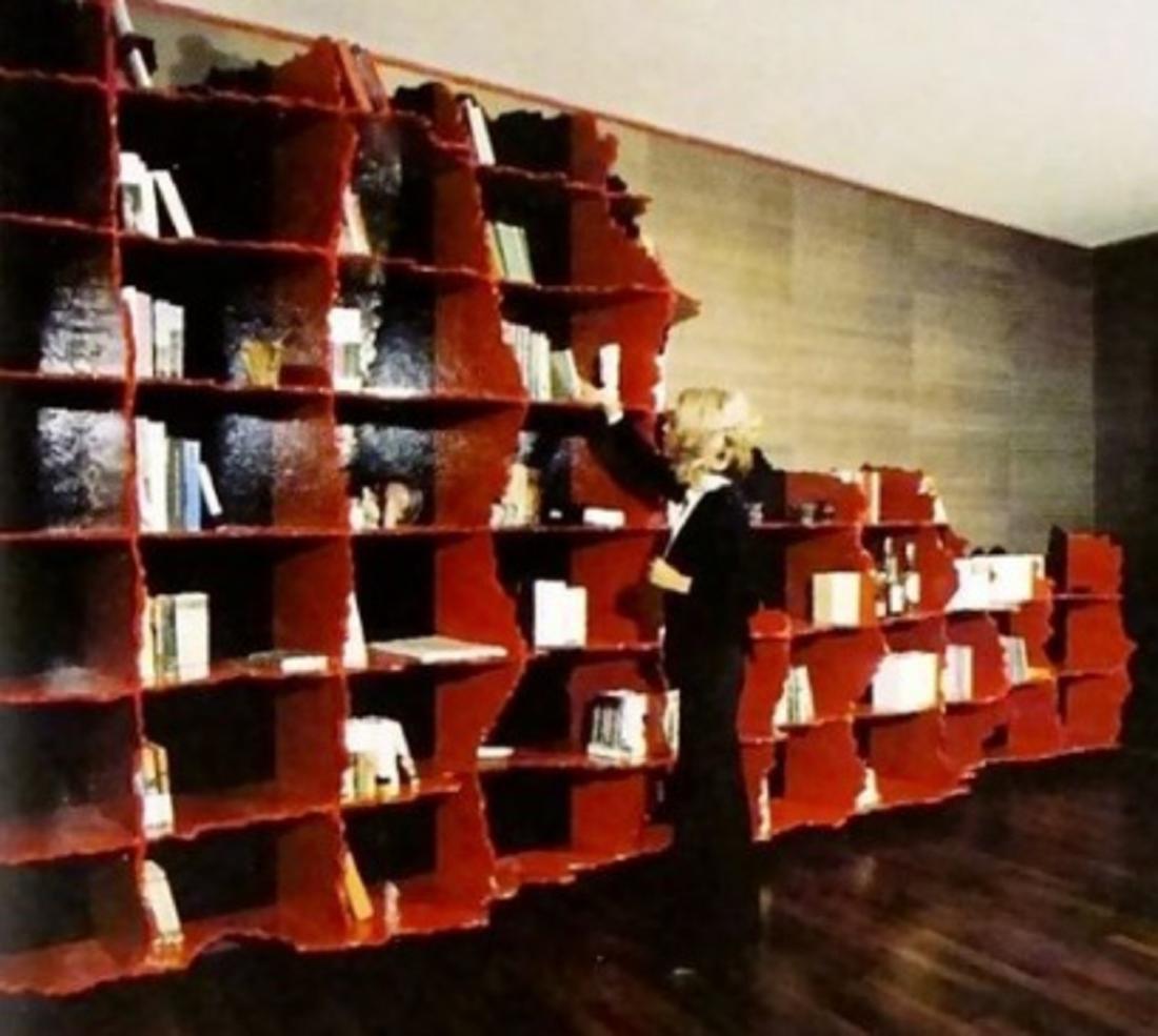 GAETANO PESCE Carenza bookcase, unique piece.. - 8