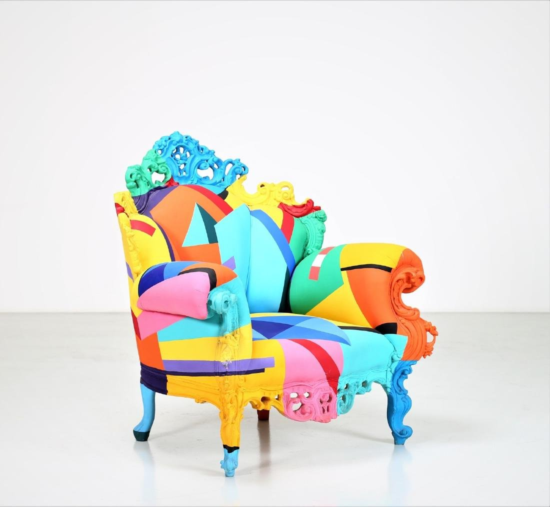 ALESSANDRO MENDINI Geometric armchair, 2001.