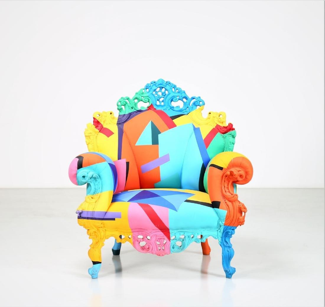 ALESSANDRO MENDINI Geometric armchair, 2001. - 3