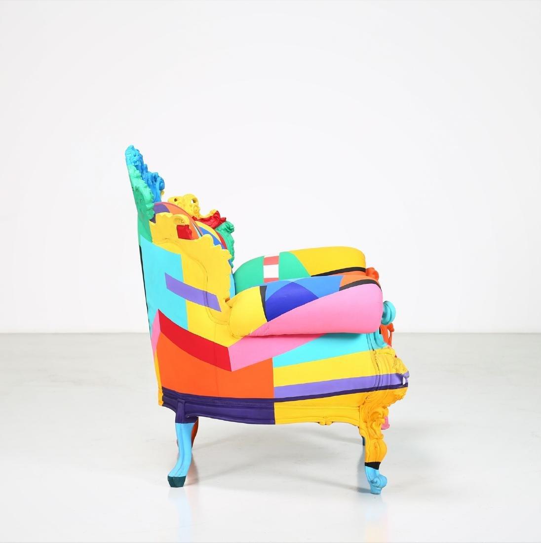 ALESSANDRO MENDINI Geometric armchair, 2001. - 4