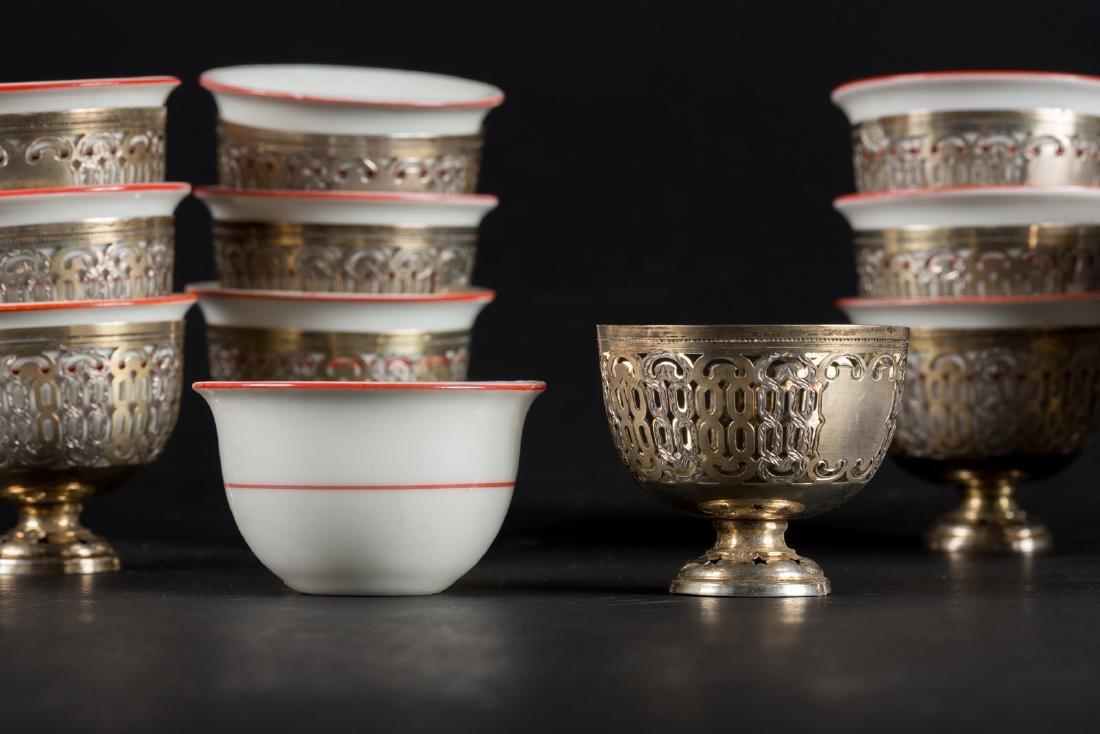 Arte Islamica  Twelve zarfs in European porcelain and - 3