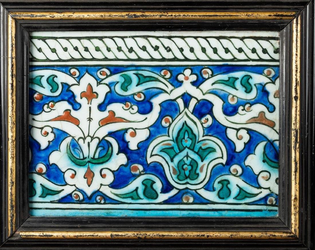Arte Islamica  An Iznik border tile painted with