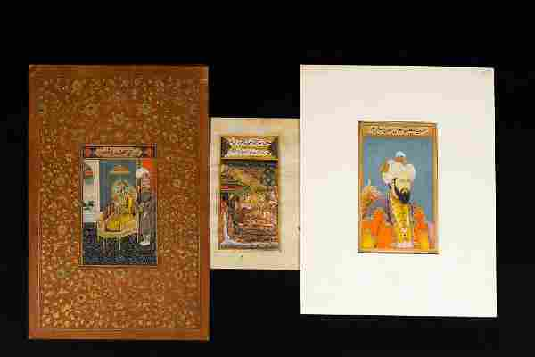 Arte Indiana A group of three Indian miniature