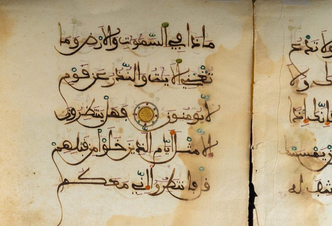 Arte Islamica  Bifolio from the Qur'anMorocco, 15th - 4