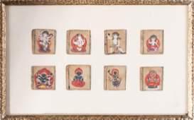 Arte Himalayana Eight miniature paintings of Buddhist