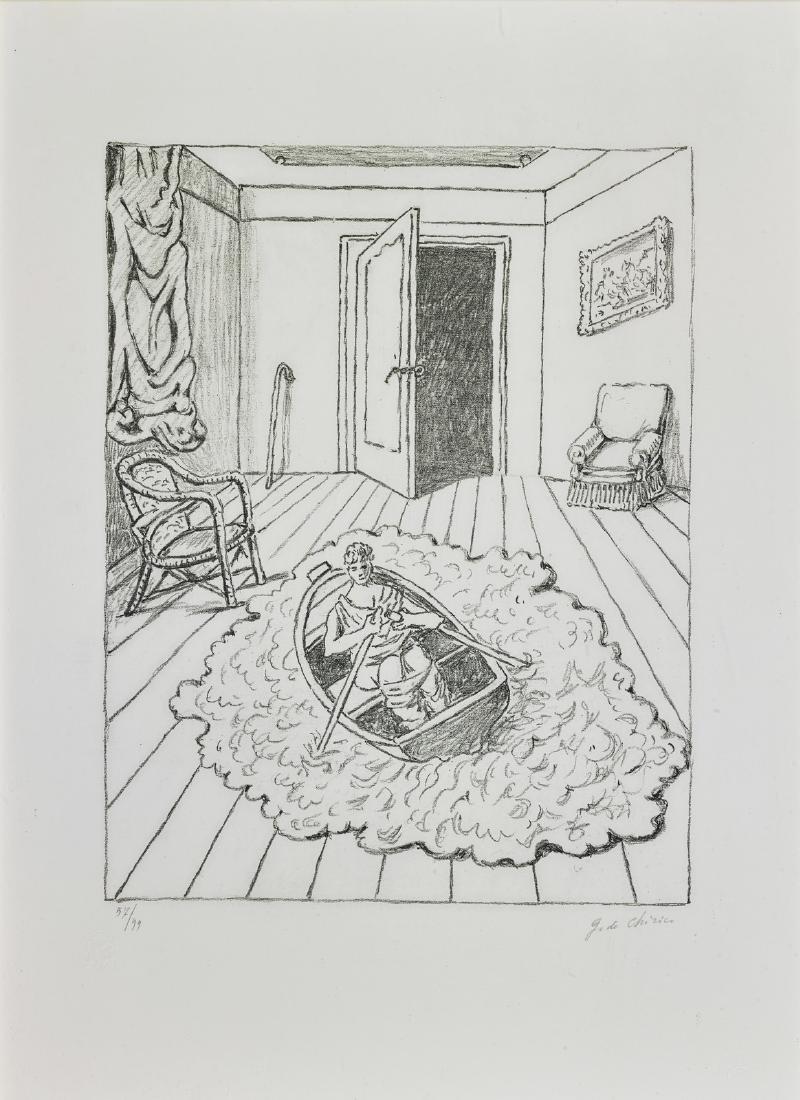 GIORGIO DE CHIRICO Untitled (Il ritorno di Ulisse).