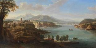 GASPARE VANVITELLI An ideal landscape (Il lago Maggiore