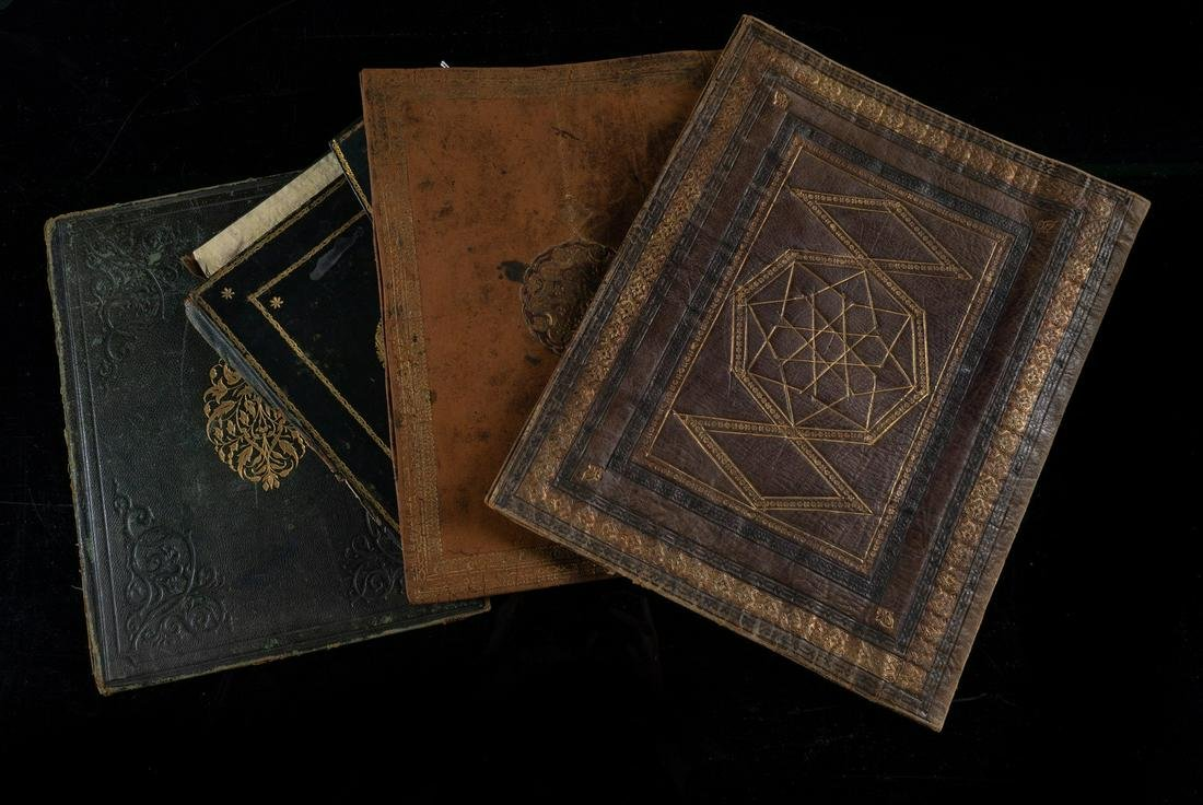 Arte Islamica  A collection of four Levant leather book