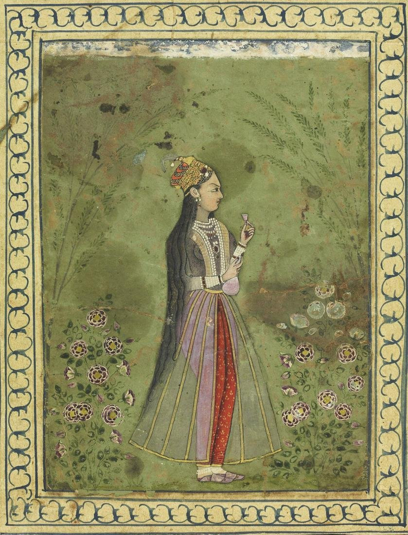 Arte Indiana  Portrait of a noble woman India, Deccan,