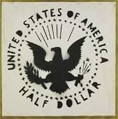 FRANCO ANGELI Half dollar (Antipittura).